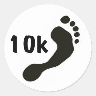 Barefoot 10K Sticker