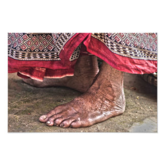 Barefoot at the Temple Photographic Print