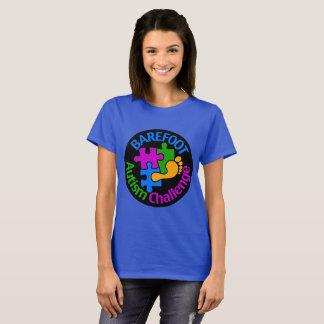 Barefoot Autism Challenge Basic T-Shirt Large Logo