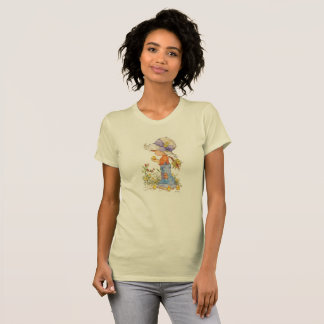 """Barefoot Belle"" American Apparel T-Shirt Gold"