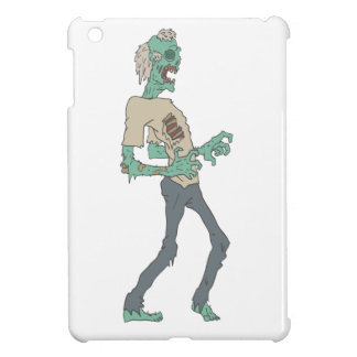 Barefoot Creepy Zombie With Rotting Flesh Outlined iPad Mini Cases
