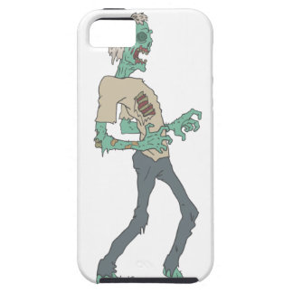 Barefoot Creepy Zombie With Rotting Flesh Outlined iPhone 5 Case