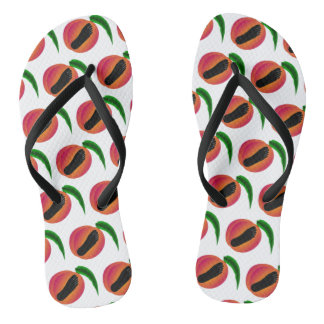 Barefoot Georgia Peaches Flip Flops