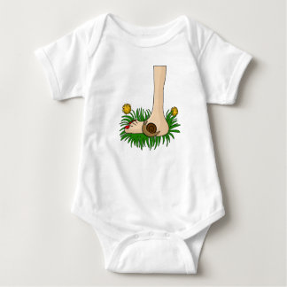 Barefoot in the grass baby bodysuit