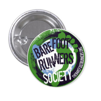 Barefoot Runners Society Artsy Round Button