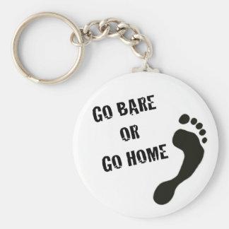 Barefoot Running Keychain