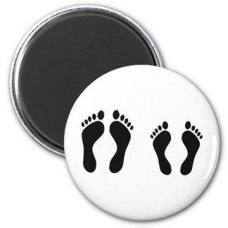 barefoot sleeping icon magnet