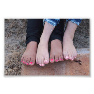 Barefoot Together Photo Print