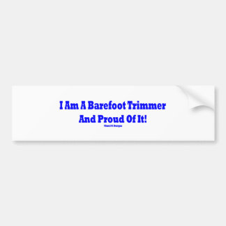 Barefoot trimmer bumper sticker