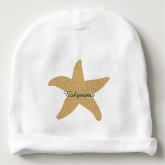 Barefootin' Beach Wedding Starfish Personalized Baby Beanie
