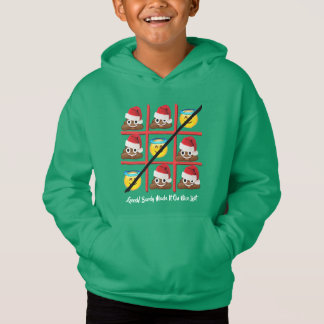 barely made nice list christmas humor sweat-shirt