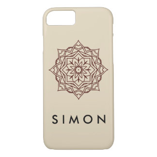 Barely There Brown Damask pattern on iPhone case