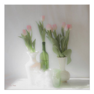 Barely There Tulips Poster