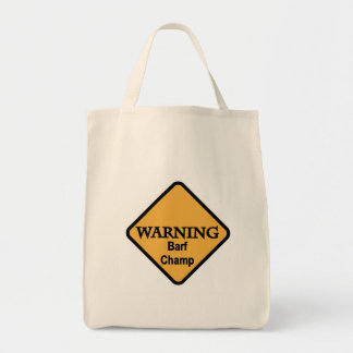 Barf Champ Tshirts and Gifts Tote Bag