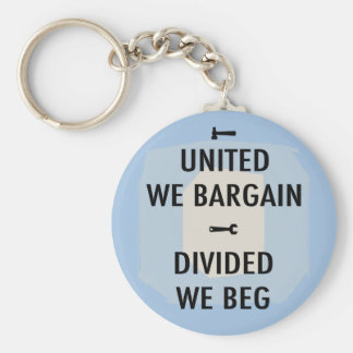 Bargain or Beg III Basic Round Button Keychain