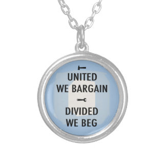 Bargain or Beg III Silver Plated Necklace