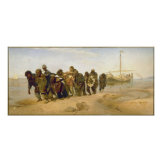 Barge Haulers on the Volga by Ilya Y. Repin Poster