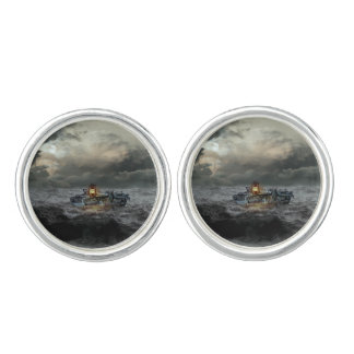 Barge in a Storm Cufflinks