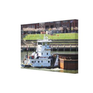 Barge on Cumberland River, Nashville, TN Canvas Print