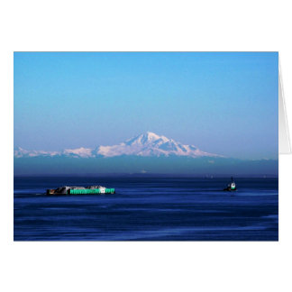 Barge on Salish Sea Card