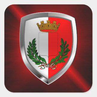 Bari Mettalic Emblem Square Sticker