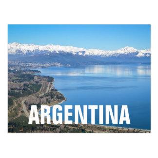 Bariloche Aerial View In Winter Postcard