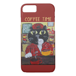 Barista Cat Cute Folk Art iPhone 8/7 Case