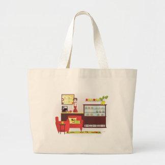 Barista-Custom Changes Large Tote Bag