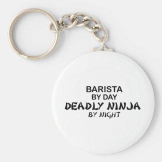 Barista Deadly Ninja Keychain