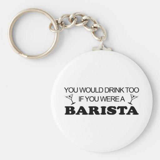 Barista Drink Too Keychain