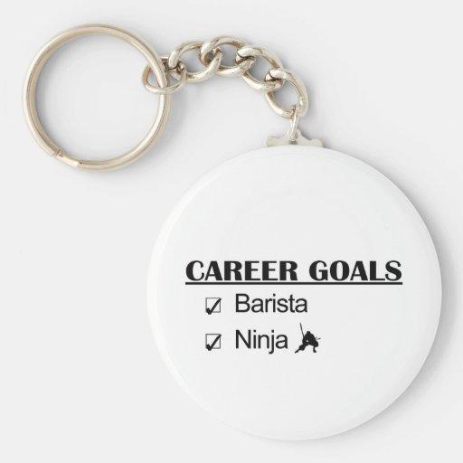 Barista Ninja Career Goals Key Chain