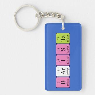 Barista periodic table name keyring Single-Sided rectangular acrylic keychain