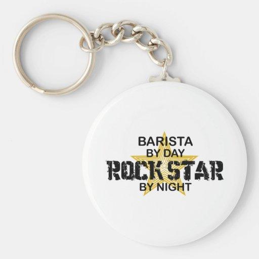 Barista Rock Star by Night Key Chain