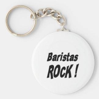 Baristas Rock! Keychain