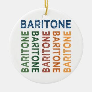 Baritone Colorful Round Ceramic Ornament
