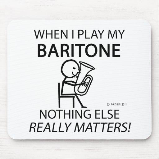 Baritone Nothing Else Matters Mousepad