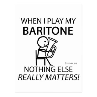Baritone Nothing Else Matters Postcard