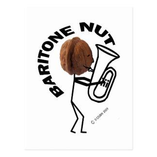 Baritone Nut Postcard