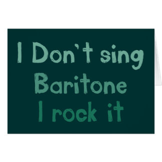 Baritone Rock It Greeting Card
