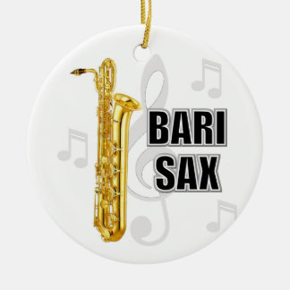 Baritone Sax Christmas Ornament