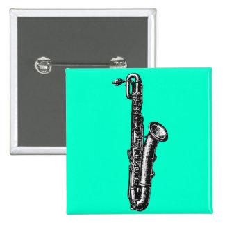 Baritone Saxophone 2 Inch Square Button