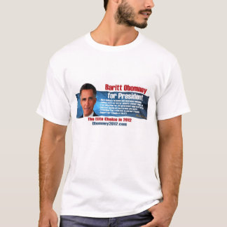 Baritt Obomney for President 2012 Official T-Shirt