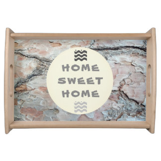 Bark Home sweet home Natural Photo Serving Tray