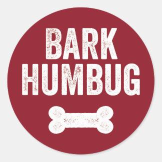 Bark Humbug Dog Holiday Sticker