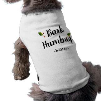 Bark Humbug Holiday Shirt with Holly and Name