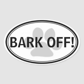 BARK OFF! Sticker