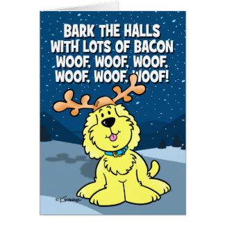 Bark The Halls Card