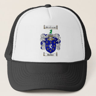 BARKER FAMILY CREST -  BARKER COAT OF ARMS TRUCKER HAT