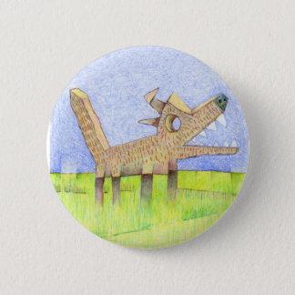 barking dog. 2 inch round button