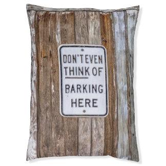 Barking Sign Dog Bed